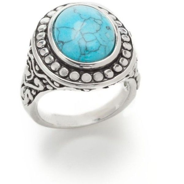 New Directions Turquoise Oval Ball Boxed Ring ($18) ❤ liked on Polyvore featuring jewelry, rings, turquoise, cowboy jewelry, oval ring, ball jewelry, western turquoise jewelry and western jewelry