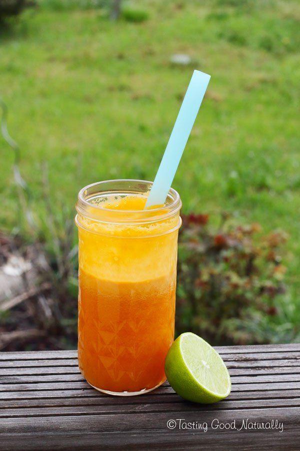 Tasting Good Naturally : Jus de carottes, oranges, citron vert et gingembre #végane