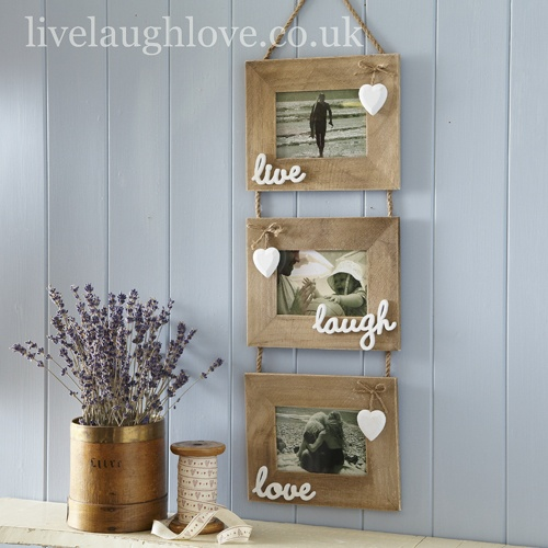Natural Wooden Live Laugh Love Photo Frame £18.95