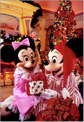 Holiday Mickey and Minnie