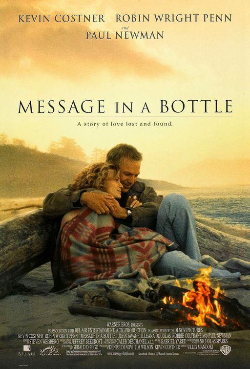 Message in a Bottle:  Theresa Osborne versucht während eines Kurzurlaubes ihre gerade gescheiterte Ehe zu überwinden, als sie am Strand auf eine Flaschenpost mit einem leidenschaftlichen Liebesbrief darin stößt. Sie will den Absender unbedingt ausfindig machen. Als sie ihn findet und sich prompt in ihn verliebt, wird ihr neues Glück auf eine harte Probe gestellt...