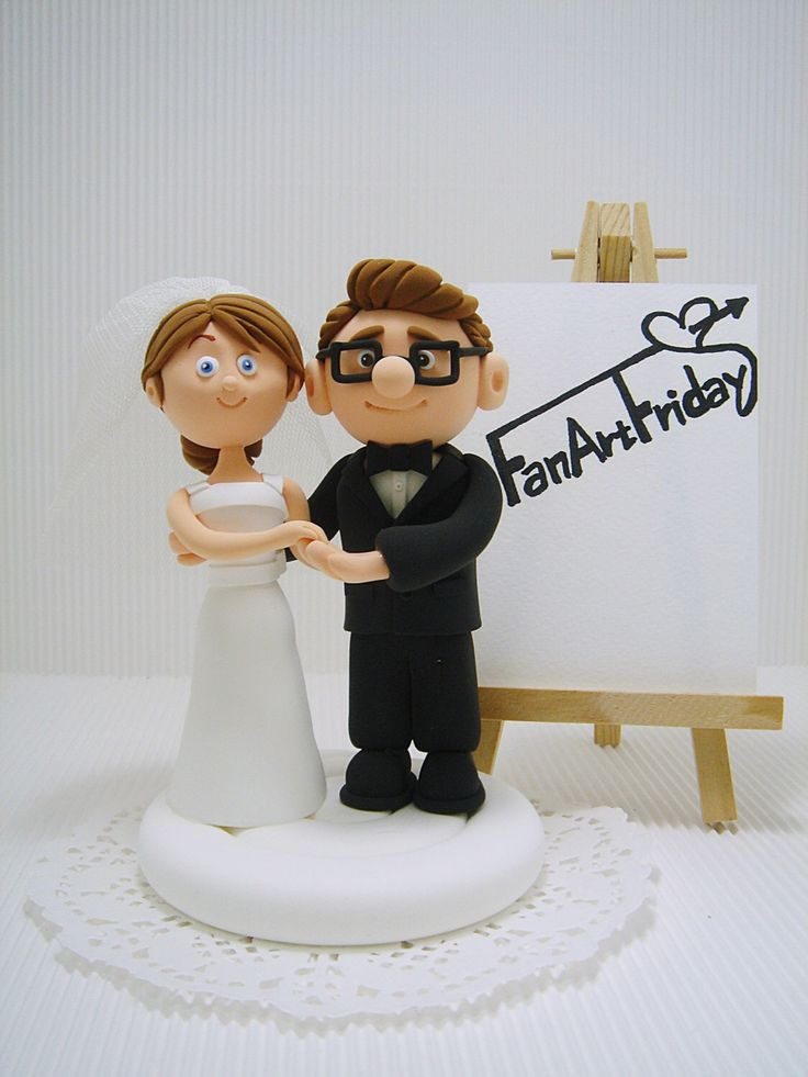 Carl and Ellie wedding cake topper - UP by Clayphory on Etsy https://www.etsy.com/listing/489912460/carl-and-ellie-wedding-cake-topper-up