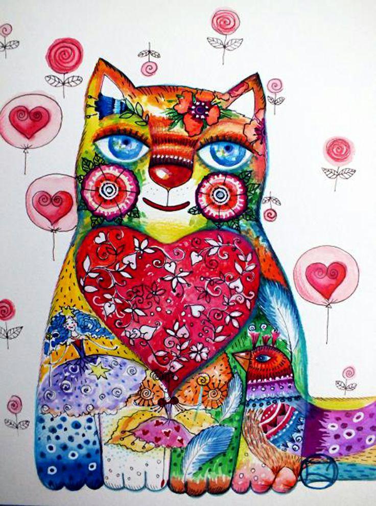 """""""Heart of Cat"""" par Oxana Zaika"""