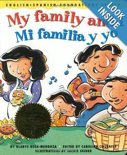 bilingual book teaches names of family members in English and Spanish