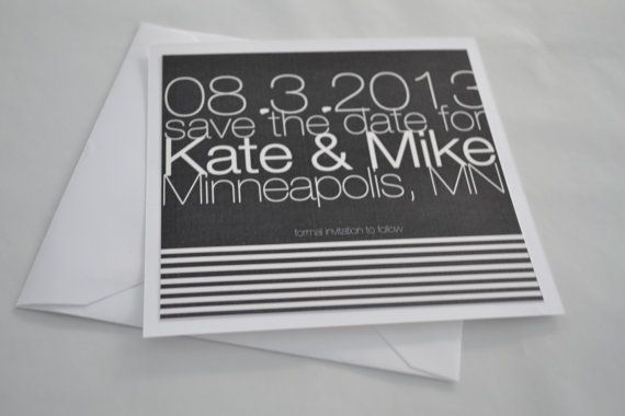 Save the Dates Simple Save the Dates Gray Save by CCPaperDesigns, $2.00