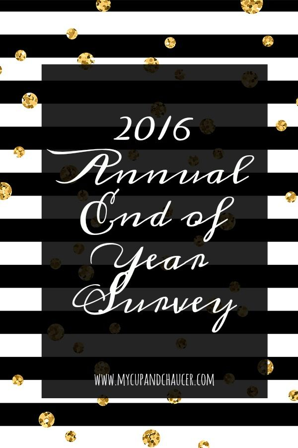 Reviewing my year of reading in 2016 with the Annual End of Year Survey from the Perpetual Page Turner blog.