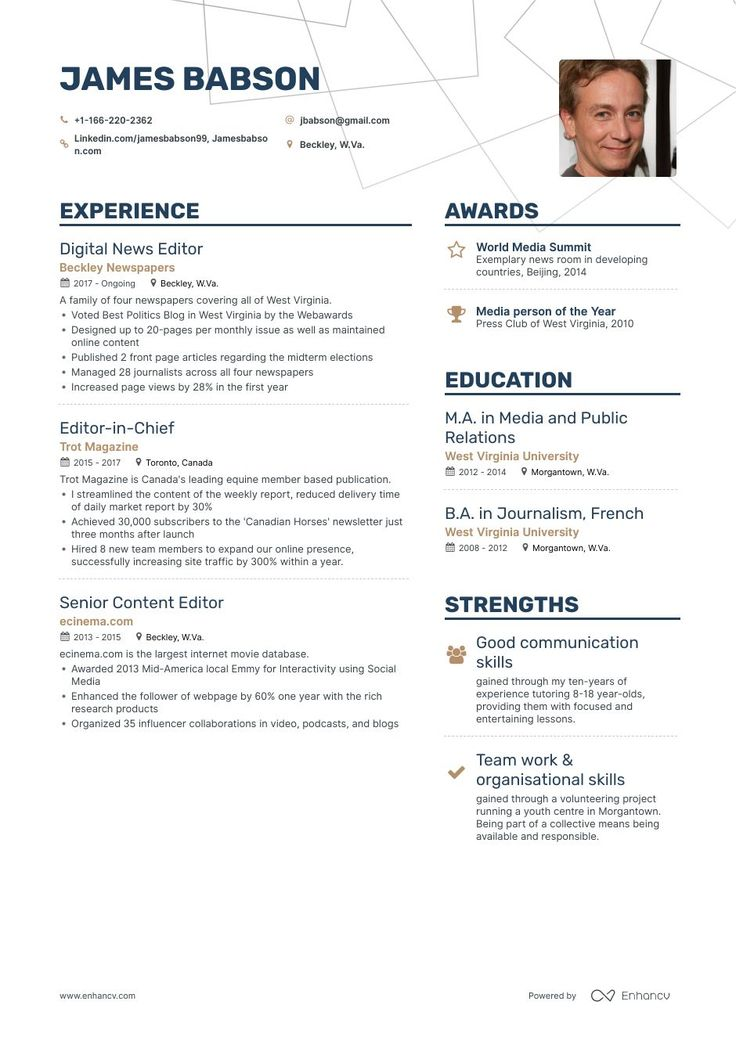 Editor resume samples a step by step guide for 2020