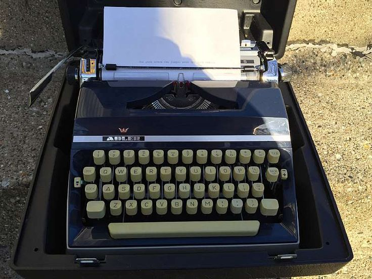 For sale at Retrophoria.com, $90.00 - The J5 is a modern, very high quality, German-made manual typewriter from the 1970�s. It is fully featured with a 3-position touch control, a very smooth-operating tab set/clear control, a ribbon color selector, a 3 position line-space