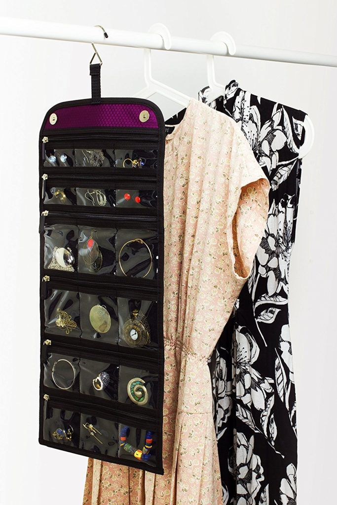 Jaimie Jewelry Organizer - Portable Design (Home & Travel) - Magnetic Trifold Holder - INSTANT Visual