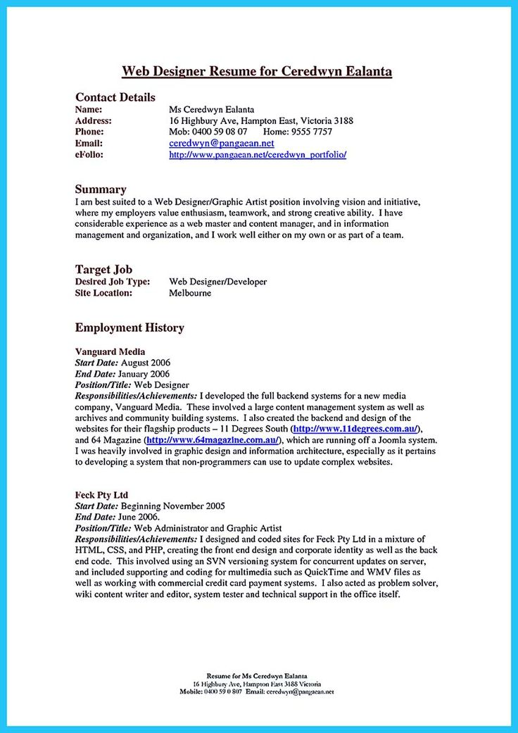 594 best resume samples images on pinterest