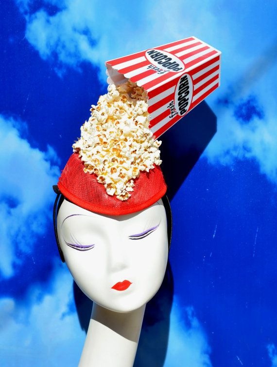 Spilled Popcorn Fascinator Headpiece Hat by FabHatters on Etsy