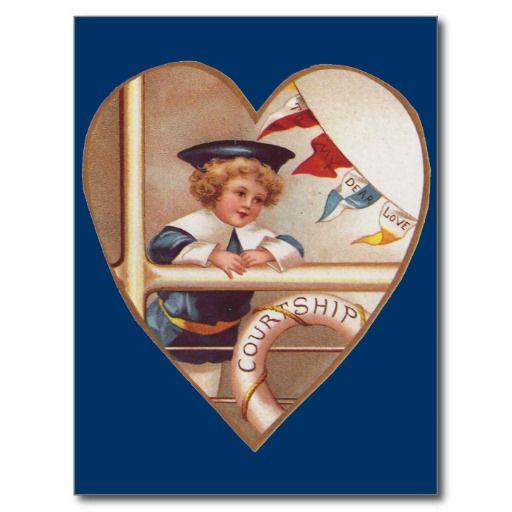 Romantische Vintage Valentijnskaarten
