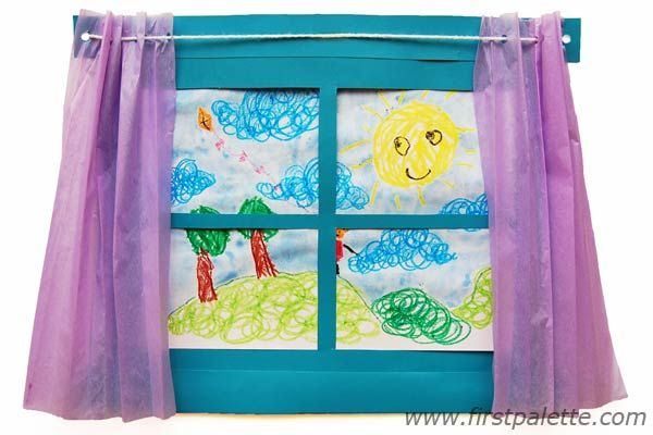 Art Window:: Craft a paper window that doubles as a frame for children's drawings and artworks - great for tackling themes on the weather or the changing seasons, and provides a venue for expressing feelings and creativity.