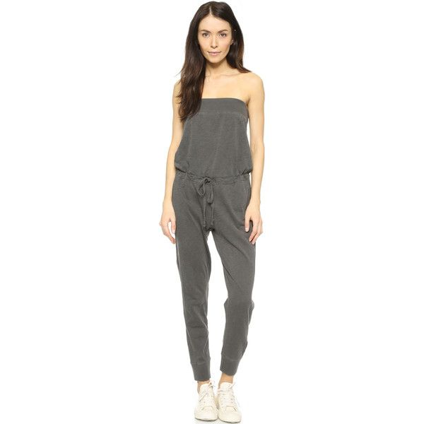 Wilt Bandeau Jumpsuit ($175) ❤ liked on Polyvore featuring jumpsuits, distressed black, strapless jumpsuit, jump suit and bandeau jumpsuit