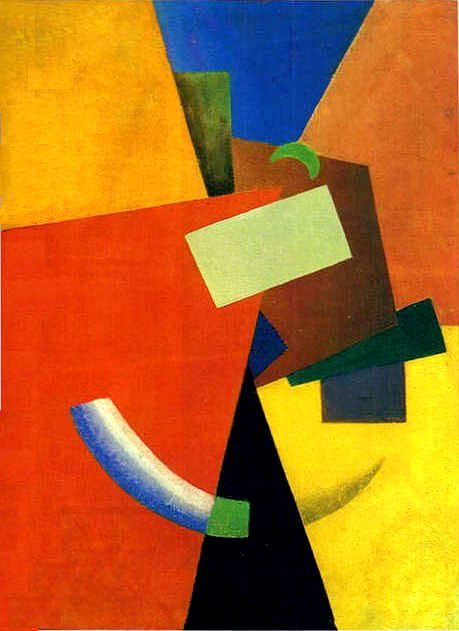 Ivan Kliunka,  Russian Avant Garde  disciple of K. С. Malevich. One of the most original masters kubofuturizma and Suprematism. His best work (created 1910 - early. 1920-s.) related to the geometric abstractions teachers, but more of a free for painting, including a game of light and shadow, the whimsical forms of irrationalism, sometimes brought to the ultra-emphatic minimum
