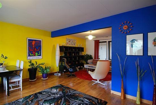 Ideas para decorar la casa en amarillo y azul.   Mil Ideas de Decoración