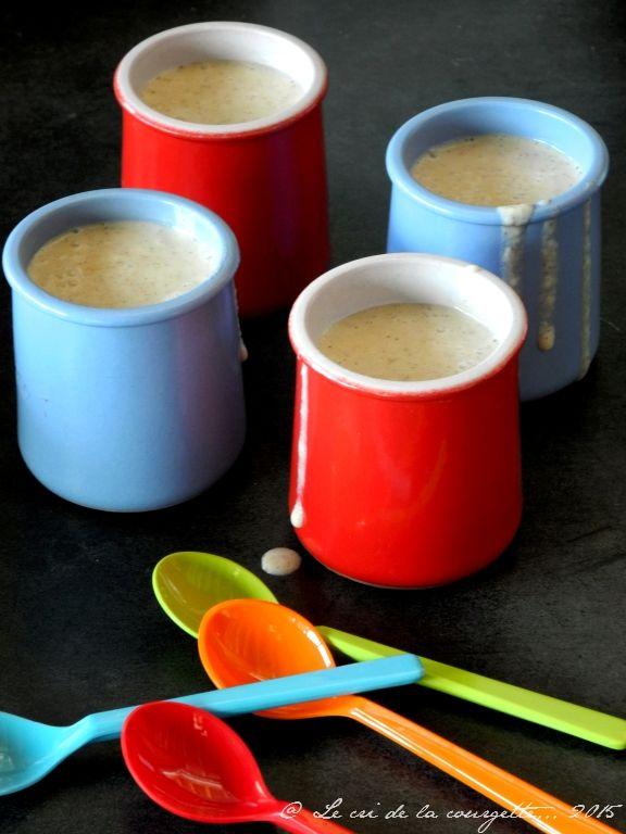 Crèmes dessert pomme, miel et amande complète grillée {sans lactose, sans oeufs}