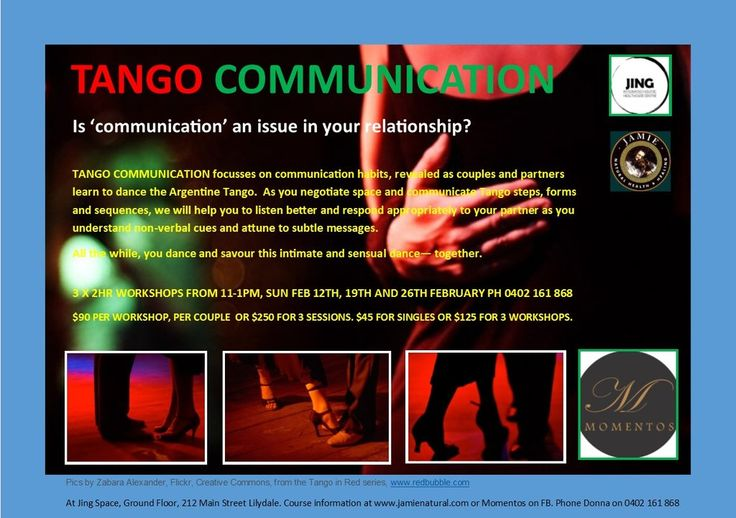 Tango Communication – Jamie Natural Health and Healing