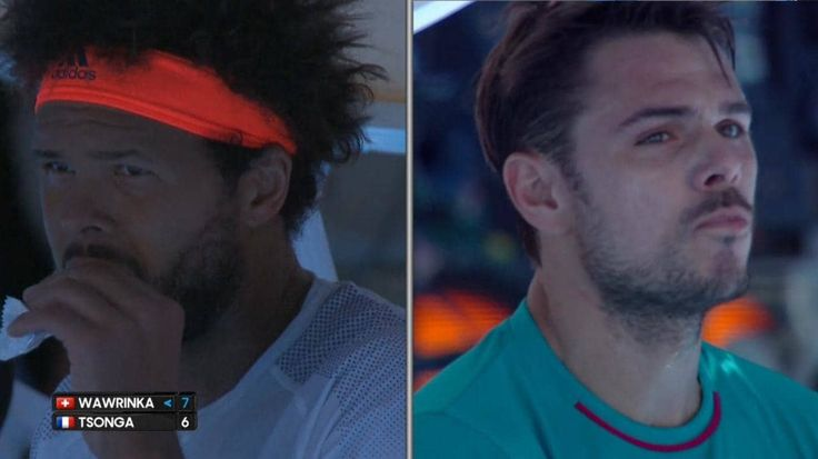 Stan Wawrinka and Jo-Wilfried Tsonga involved in angry exchange at Australian Open