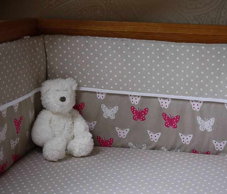 butterfly cot bed bumper and sheet set by union jack and jill   notonthehighstreet.com
