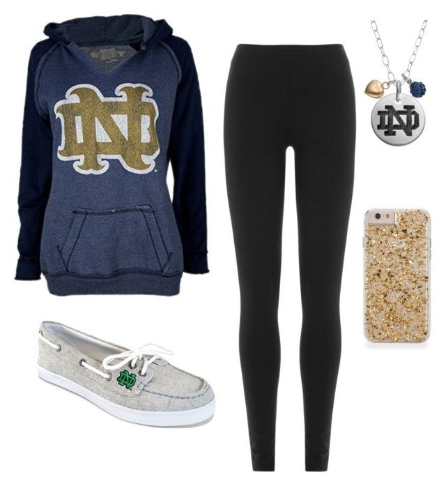 """Notre dame themed outfit"" by alyssam616 on Polyvore featuring Fiora and DKNY"