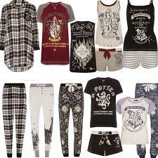 Ladies HARRY POTTER HOGWARTS MARAUDERS MAP Pyjamas PJ T Shirt Leggings Primark