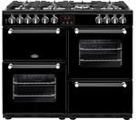 BELLING Kensington 100DFT Dual Fuel Range Cooker - Black & Chrome