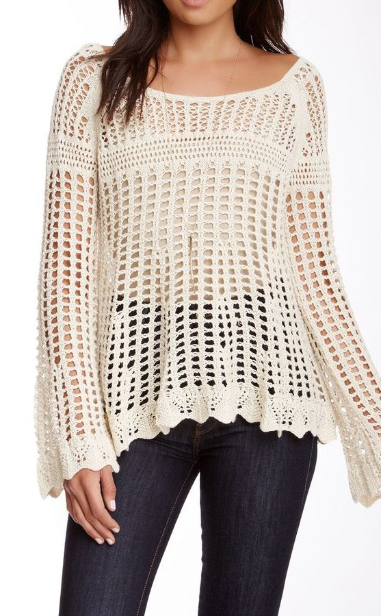 Free People | Annabelle Crochet Pullover