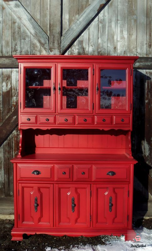 Restored furniture..so love the RED!