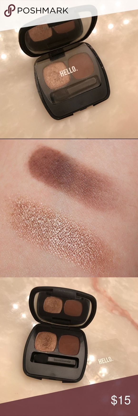 """eyeshadow duo One taupe bronze shimmer and matte to define your crease! Barely touched, maybe used twice as seen on photos. Perfect for travel or in makeup bag. """"The epiphany"""" duo shadow by bare minerals. LISTED AS NARS FOR EXPOSURE NARS Makeup Eyeshadow"""