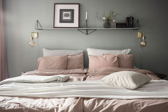 Beige Walls Bedroom Sage Green, Sage Green Bedding And Curtains