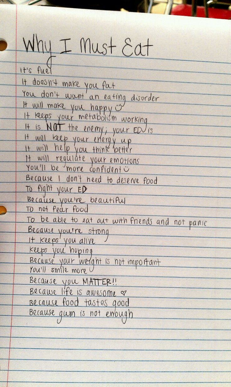 "Reasons to fight your eating disorder    ""whereshewillwander:    This helps me so much:)"""