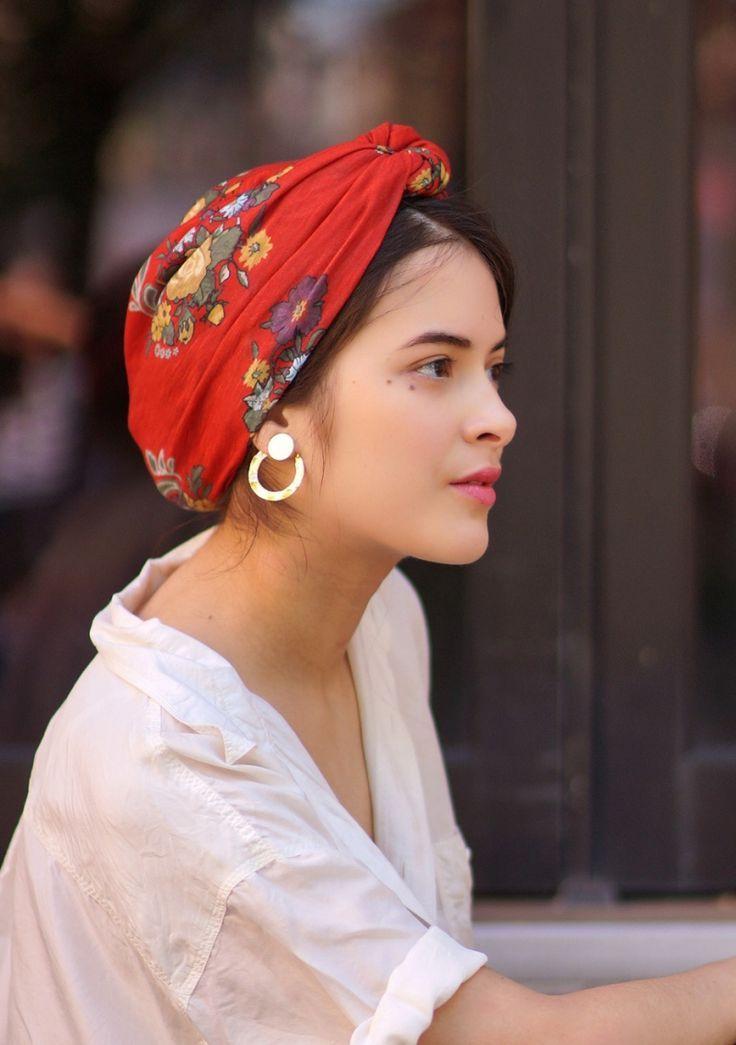 Bandana KATARINA – Rot – Indira de Paris