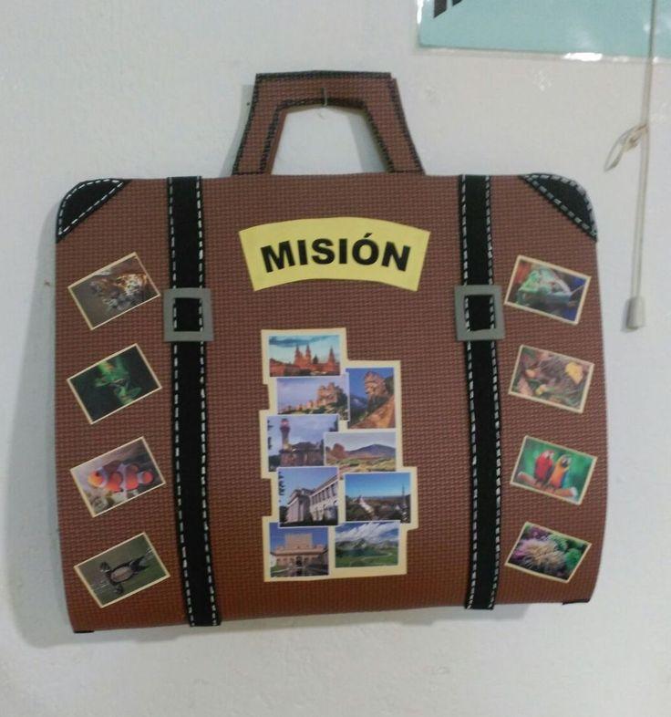 Maletín misionero hecho de foami, para contar la historia misionera.