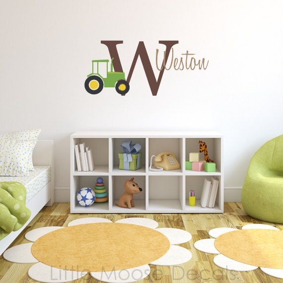 Best Farm Themed Boys RoomNursery Images On Pinterest - Monogram wall decals for business
