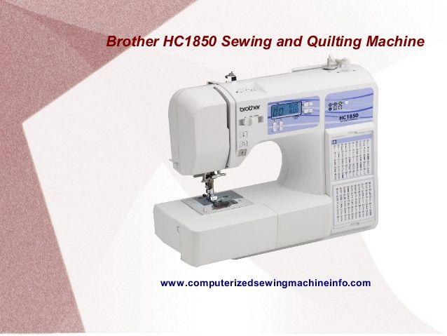 hc1850 sewing machine
