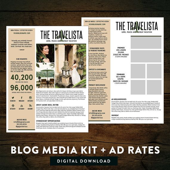 Blog Media Kit  Ad Rate Sheet by TheNativeNewYawker on Etsy, $12.00