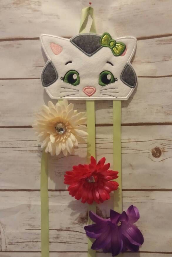 Katerina Kitty  Bow Holder; Barrette Holder; Bow Organizer; Barrette Organizer; Hair Accessory Holder by TamsTinyBlessings on Etsy