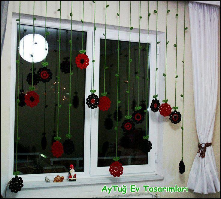 cortinas en crochet crochet de la web pinterest gardinen vorh nge und vorh nge gardinen. Black Bedroom Furniture Sets. Home Design Ideas