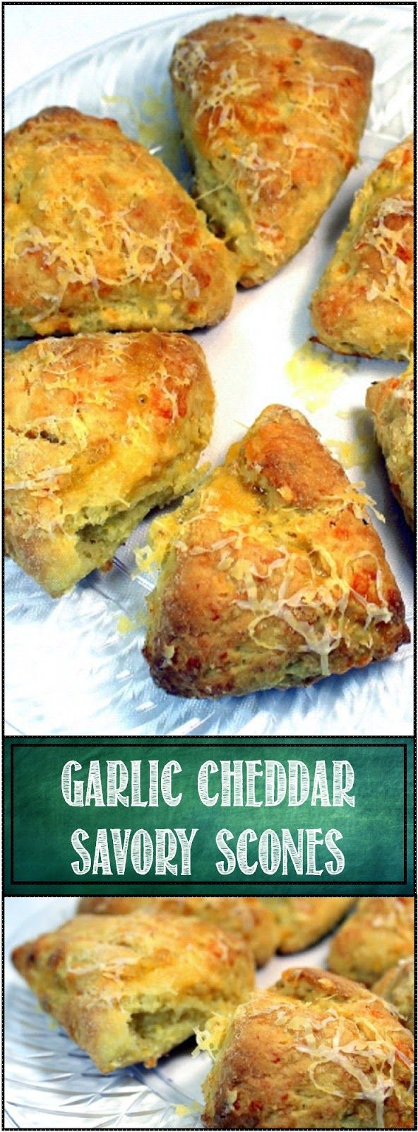 Garlic Cheddar Savory Scones OH BOY... SCONES! And these are wonderful savory scones, a little bit sweet... A little bit nutty (there is a secret ingredient)... And a lot tender and moist (Yet a second secret ingredient that makes these extra moist). Add in the Earthy cheesy goodness of the Cheddar and the Savory Spicy Garlic and Bingo Bango Bongo you have a Tasty treat for breakfast, a side for dinner or a treat for an afternoon Tea!