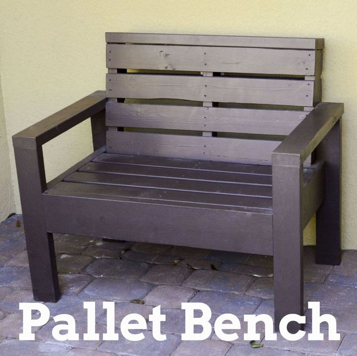 DIY Amazing And Super Simple Oversized Pallet Bench !