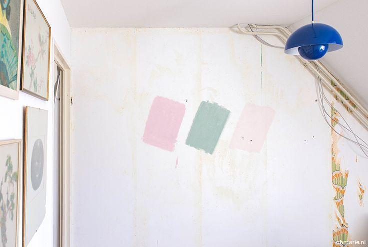 Blogster Marlous (Oh Marie) testte haar favoriete kleuren eerst op de muur voordat zij ging verven. Zo kwam zij tot de exacte kleur voor haar kamer. Welke kleurkeuze is het voor jou geworden?