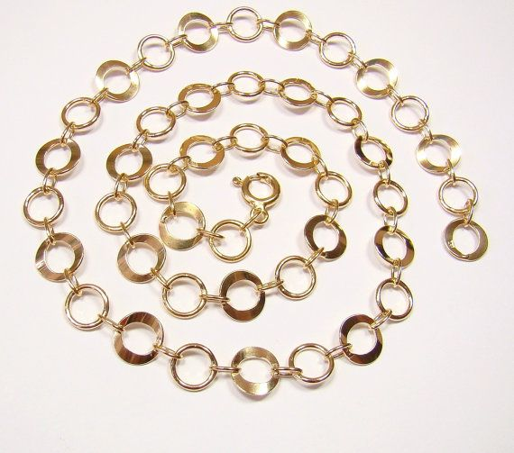 SQASH GOLD chain 9.4MM   sterling silver 925  by DawidPandel, zł111.00
