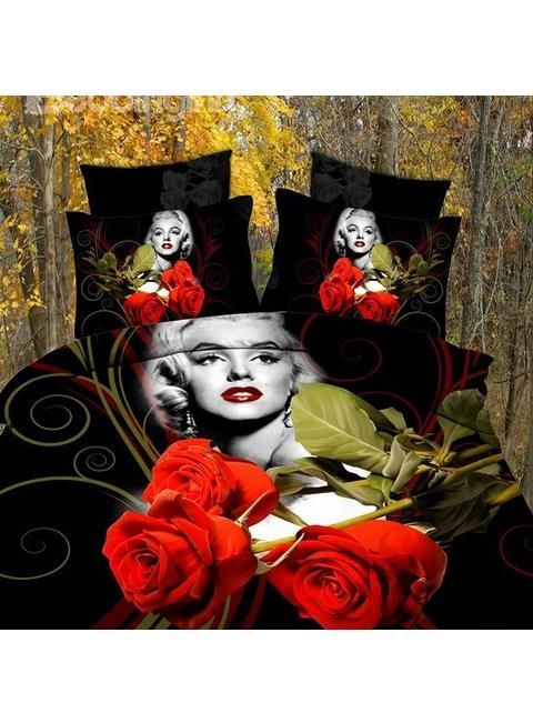 Red Rose Marilyn Monroe Bedding Set