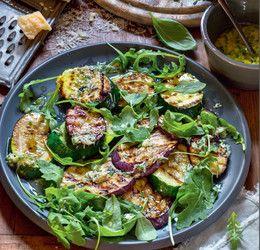 Овощи гриль с рукколой и сырной заправкой от Юлии Высоцкой