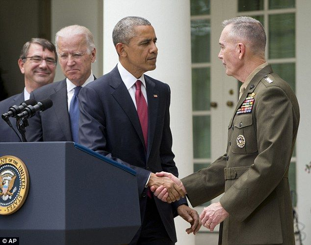 Obama picks Marine General nicknamed 'Fighting Joe' for leading charge to Baghdad to succeed Martin Dempsey as Joint Chiefs Chairman -- (Irish Gerneral family from Conammara) 'Joe Dunford, is one of the most-admired officers in our military,' President Barack Obama, said he nominated the Marine General to be the next chairman of the Joint Chiefs of Staff. 'I have been extraordinarily impressed by Joe'