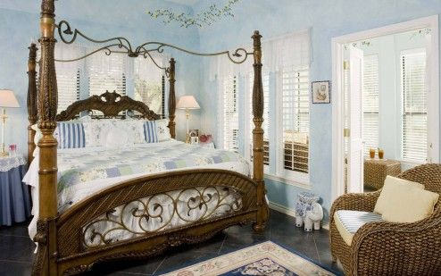 Decoration, Beautiful Romantic Master Bedroom Ideas With Traditional Adult Canopy Bed And Banana Fiber Arm Sofa Design Ideas ~ Simple Romantic Room Ideas to Bring Serene Mood into Your Room
