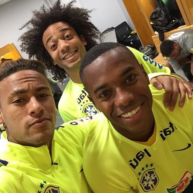 Marcelo,Neymar and Robinho