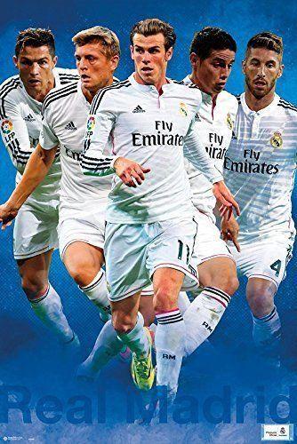 Real Madrid Football Club FC F.C. Poster Print Wall Art Large Maxi
