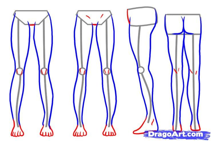 Drawing Anime Legs And Feet | How To Draw Legs Step 6 | Drawing | Pinterest | How To Draw To ...